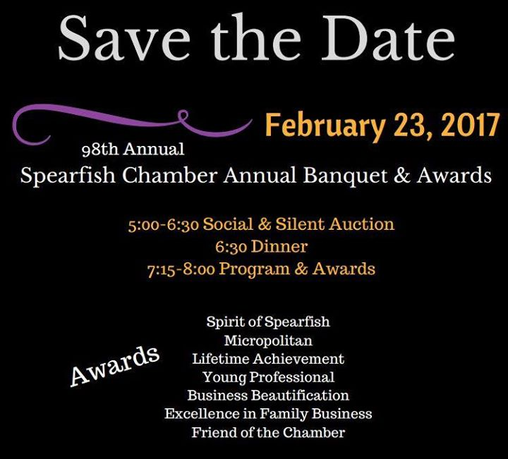 Coming up quickly is Taste of Spearfish and then following shortly thereafter is our Annual Banquet & Awards! If you would like information on submitting an award nomination, please give Melissa a shout at 642-2626 or director@spearfishchamber.org.