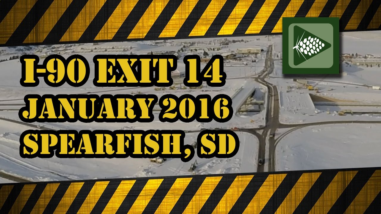 Exit 14 Update- Spearfish January 2017 I'm Bryan Lessly with a Black Hills Channel construction update on for the new Exit 14 on I-90 at Spearfish for Januar...