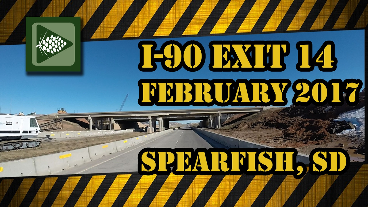 Exit 14 Update- Spearfish February 2017 I'm Bryan Lessly with a Black Hills Channel update on the construction of the new Exit 14 on I-90 at Spearfish for Fe...
