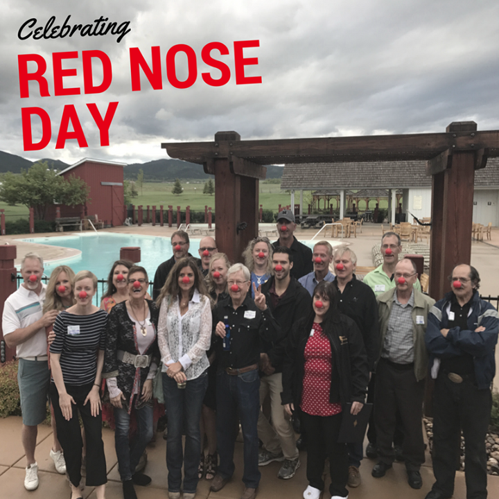 The May Gone Fishin' Mixer showed their support to end child poverty on Red Nose Day. We were able to snag this lovely picture in the reprieve of the storm at Elkhorn Ridge RV Resort.