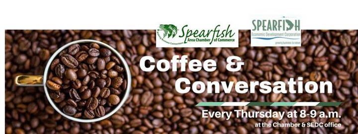Start your Thursday with Spearfish Economic Development Corporation and the Spearfish Area Chamber of Commerce! The coffee will be on at 8 a.m.!