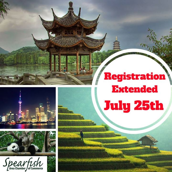 You're not too late! You can still join our China Trip (Oct. 10-18th). It's only $2,299. Call 605-642-2626 to sign up.
