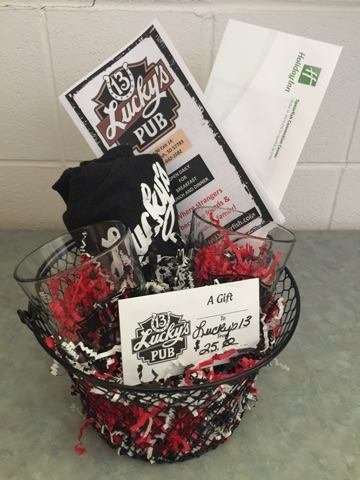 "You sure would be a lucky one to win Lucky's 13 Pub and Spearfish Holiday Inn 's basket!  Get your bidding pen out, and I'll see you on TONIGHT at 5:30 for great food, live entertainment with Gordy Pratt - The ""original"" Fabulous One Guy and Dalyce Sellers, the WIN CASH drawing, and the silent auction.   Spearfish City Large Shelter 