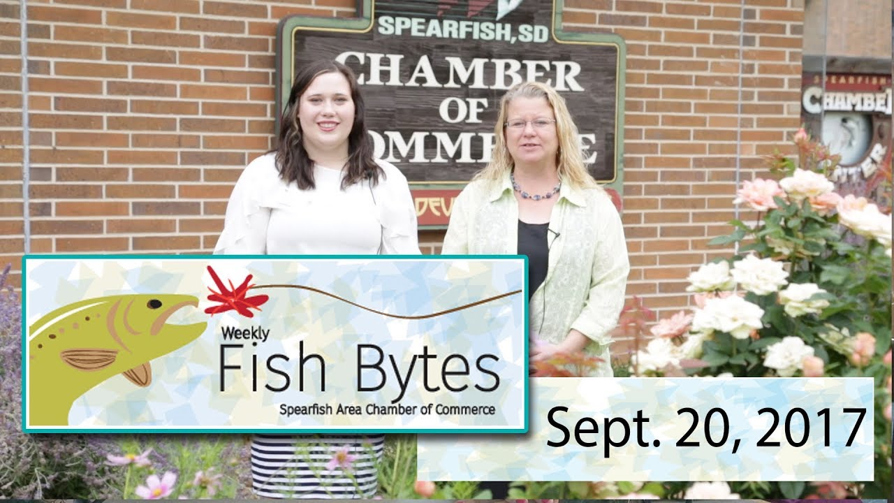 In this edition of the Spearfish Chamber of Commerce video newsletter, Fish Bytes, Melissa and Bailey give details of the upcoming September mixer, an update...