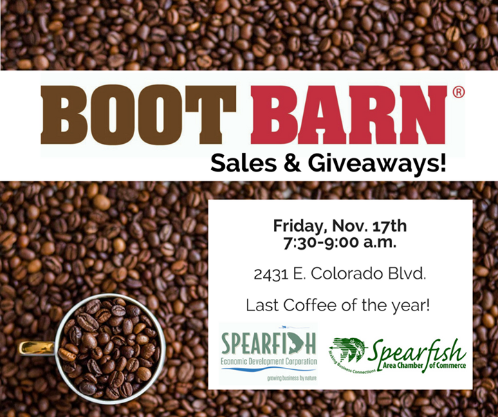I'll see you all the Boot Barn bright and early tomorrow!